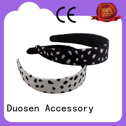 Duosen Accessory charming fabric alice band manufacturer for sports