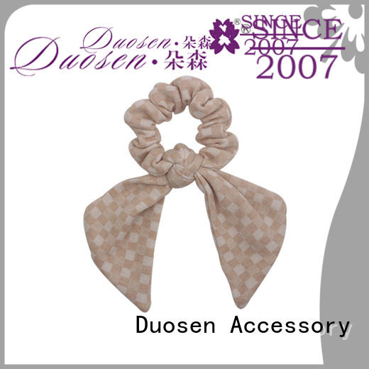 Duosen Accessory tie fabric scrunchies on sale for girls