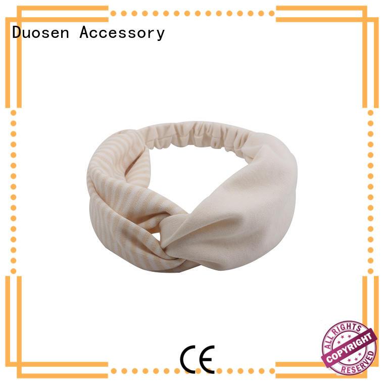 friendly changeable hairband Duosen Accessory Brand organic fabric headband supplier