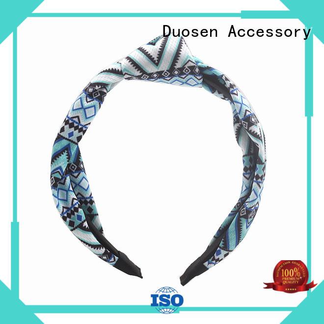 Hot organic fabric headband red Duosen Accessory Brand