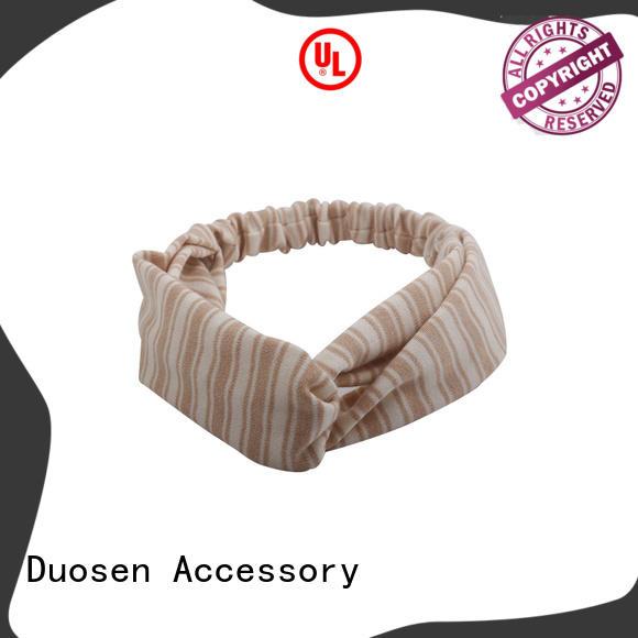 Duosen Accessory organic girls fabric headbands manufacturers for sports
