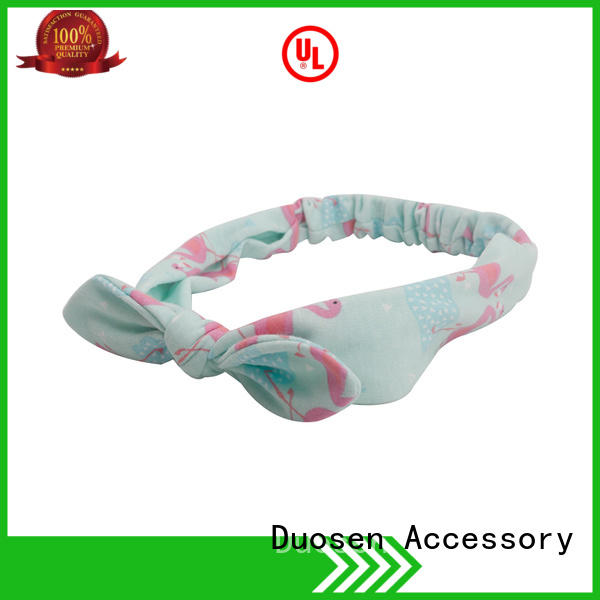 Duosen Accessory cow fabric hair bands manufacturer for daily Life