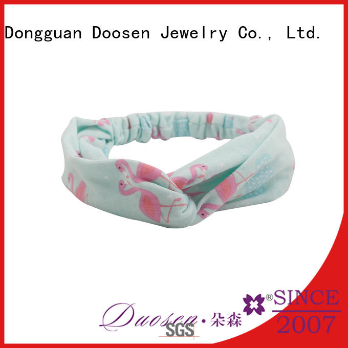 organic material cross headband spot changeable Duosen Accessory Brand