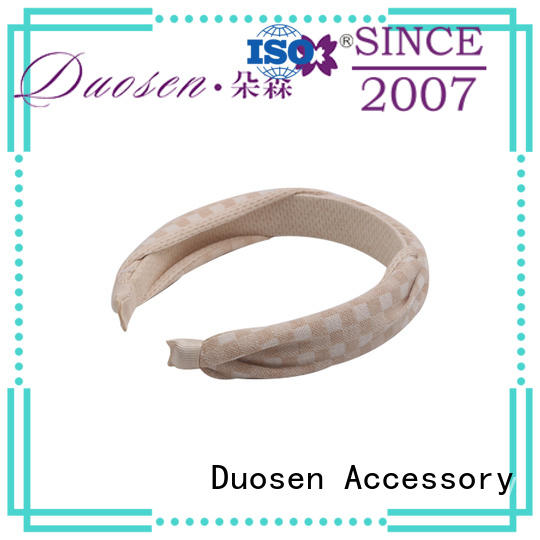 Duosen Accessory wave fabric headbands wholesale Suppliers for sports