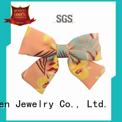 Hot lace fabric bow hair clip eco pattern Duosen Accessory Brand