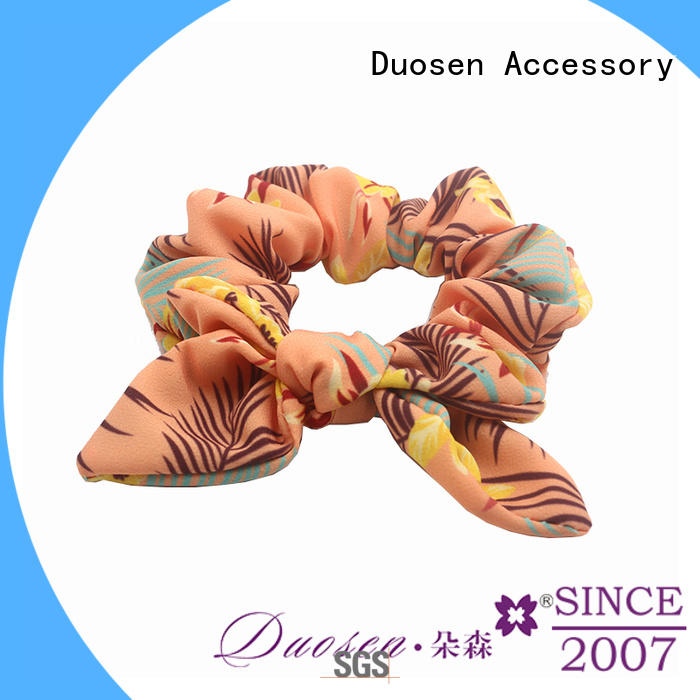 organic wholesale scrunchies customized for daily life Duosen Accessory