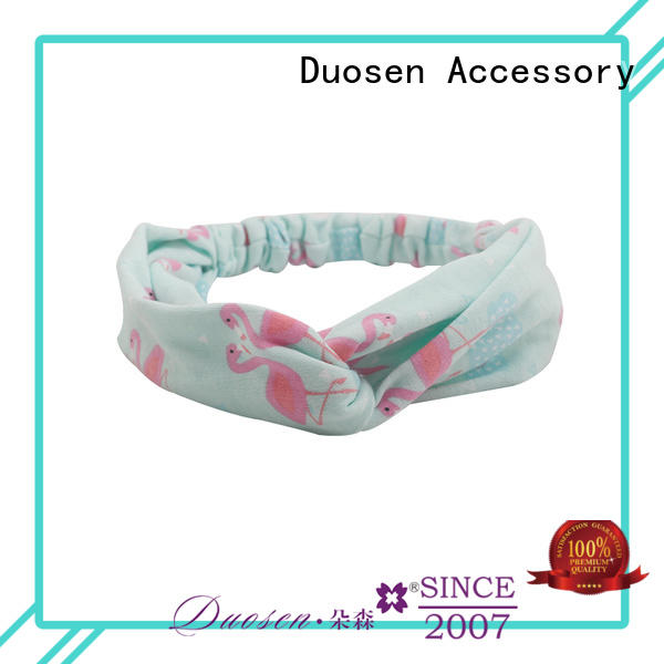 Duosen Accessory High-quality fabric elastic headbands manufacturers for party