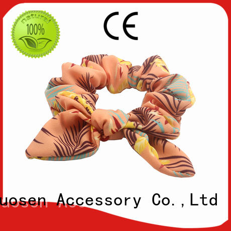 Duosen Accessory tie fabric hair tie factory for daily life