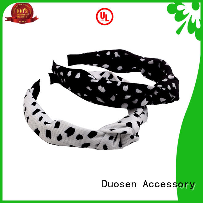 Duosen Accessory Top twisted fabric headband manufacturers for prom