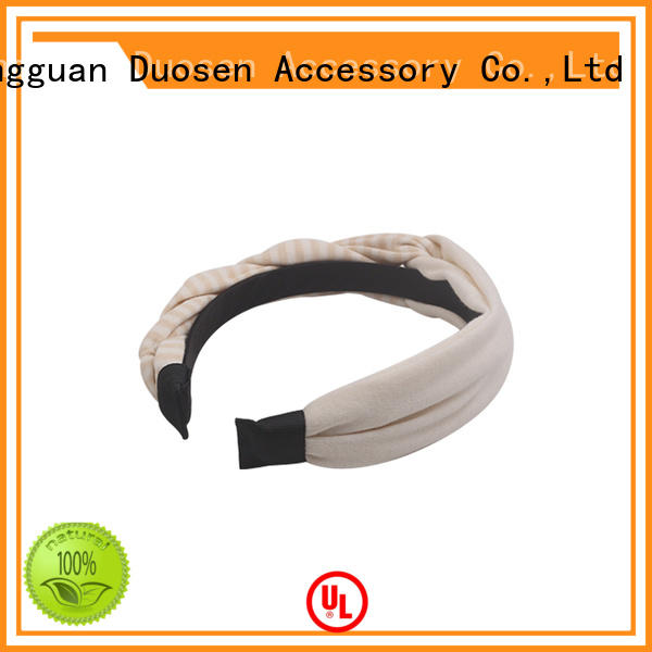 Duosen Accessory charming girls sports headbands fabric for sports