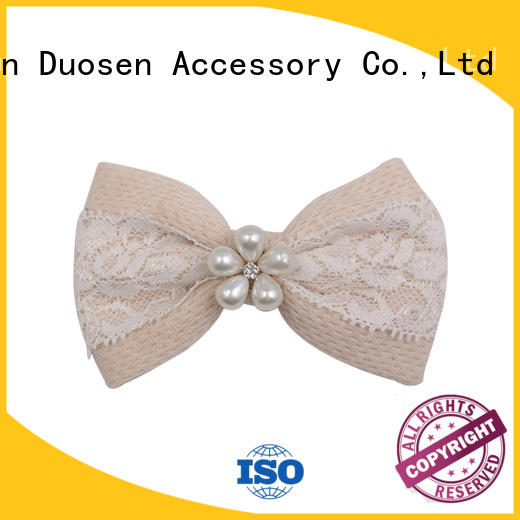 fabric bow hair clip women for girls Duosen Accessory
