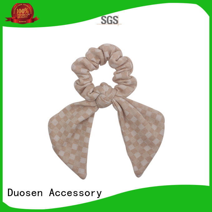 Hot organic material hair scrunchy cute Duosen Accessory Brand