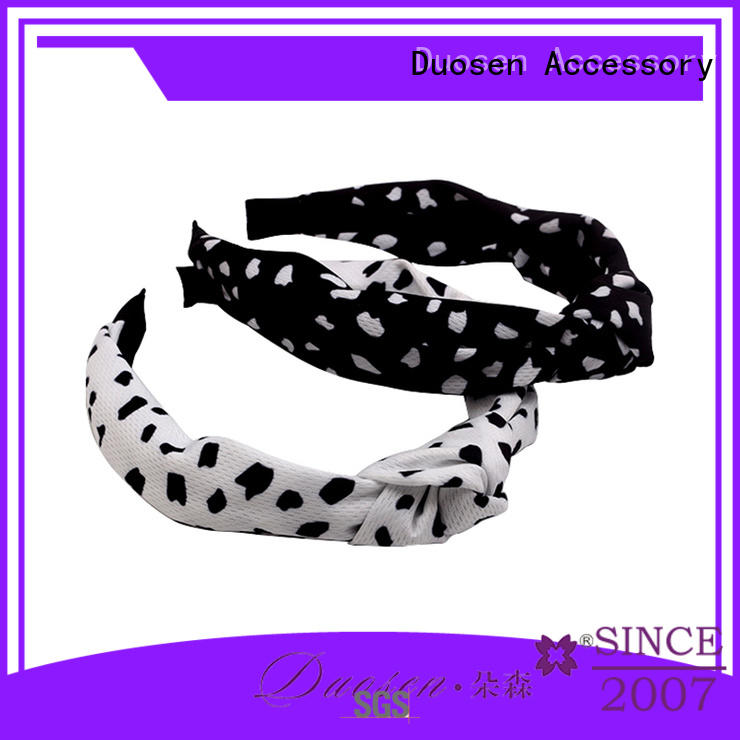 eco knotted organic material cross headband Duosen Accessory manufacture