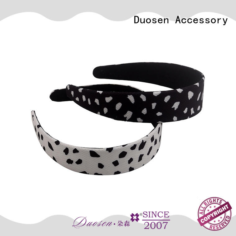 Duosen Accessory Wholesale organic cotton headband manufacturers for party