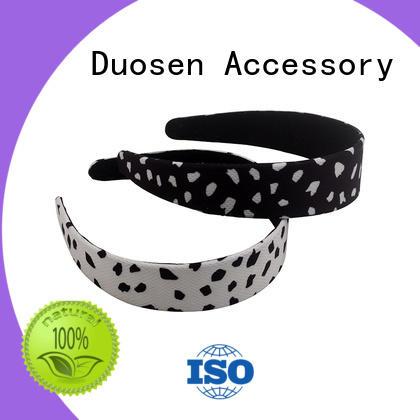 Duosen Accessory striped organic fabric hairband company for prom