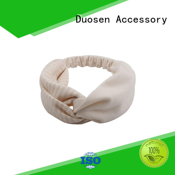 Duosen Accessory two recycled fabric hairband manufacturers for party