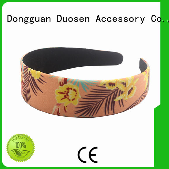 Duosen Accessory convinent fabric hair bands manufacturer for dancer