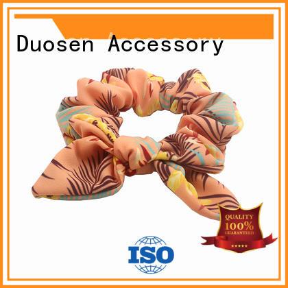 hair fabric scrunchies customized for girls Duosen Accessory