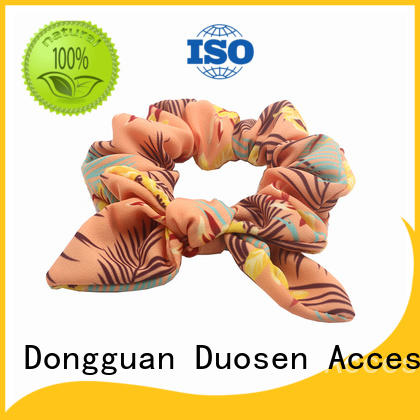 Duosen Accessory boho fabric scrunchies wholesale for daily life
