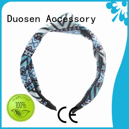 Duosen Accessory print fabric knot headband Suppliers for sports