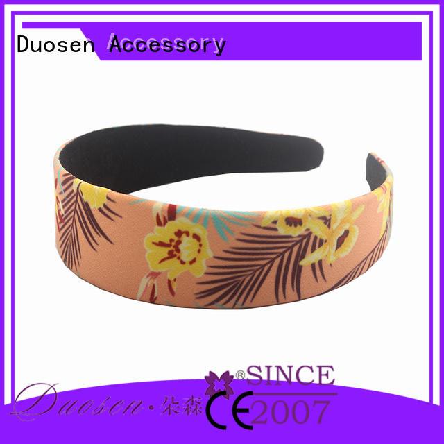 Duosen Accessory headband cotton turban headband manufacturer for running