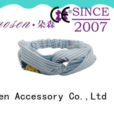 Duosen Accessory Custom organic fabric bow headband manufacturers for running
