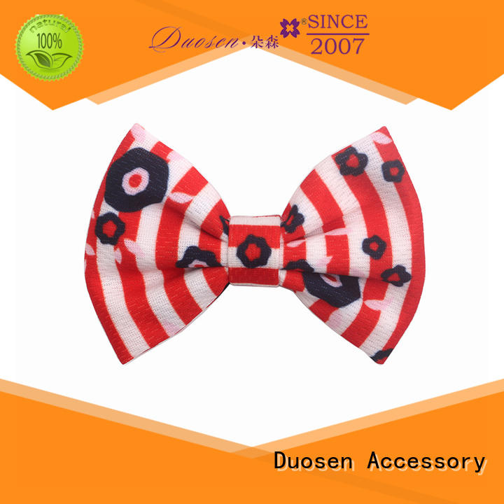 Duosen Accessory Latest handmade fabric bows company for girls