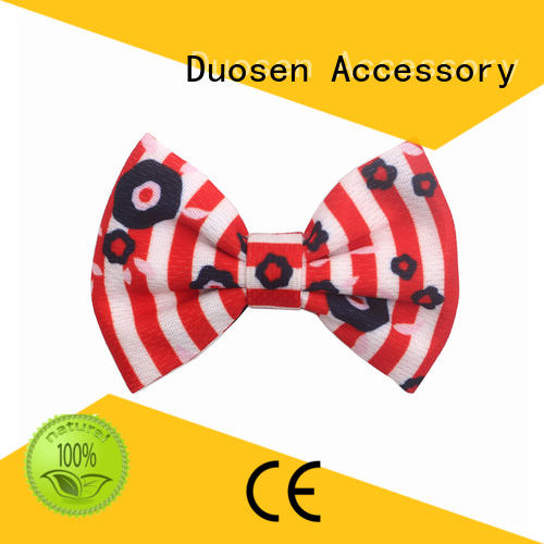 friendly pearl geometric Duosen Accessory Brand fabric bow hair clip supplier