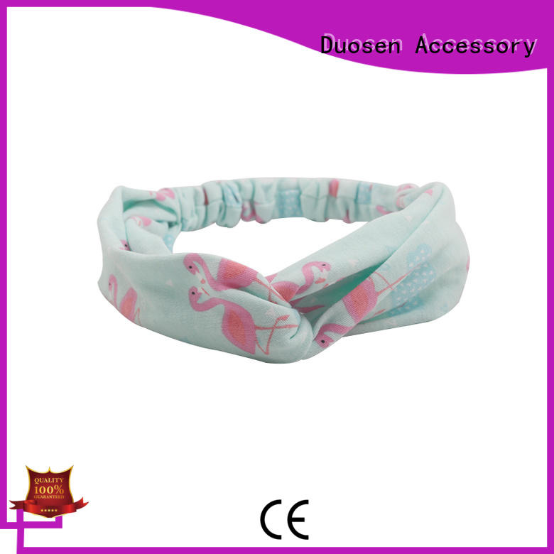 Duosen Accessory OEM fabric elastic headbands wholesale for daily Life
