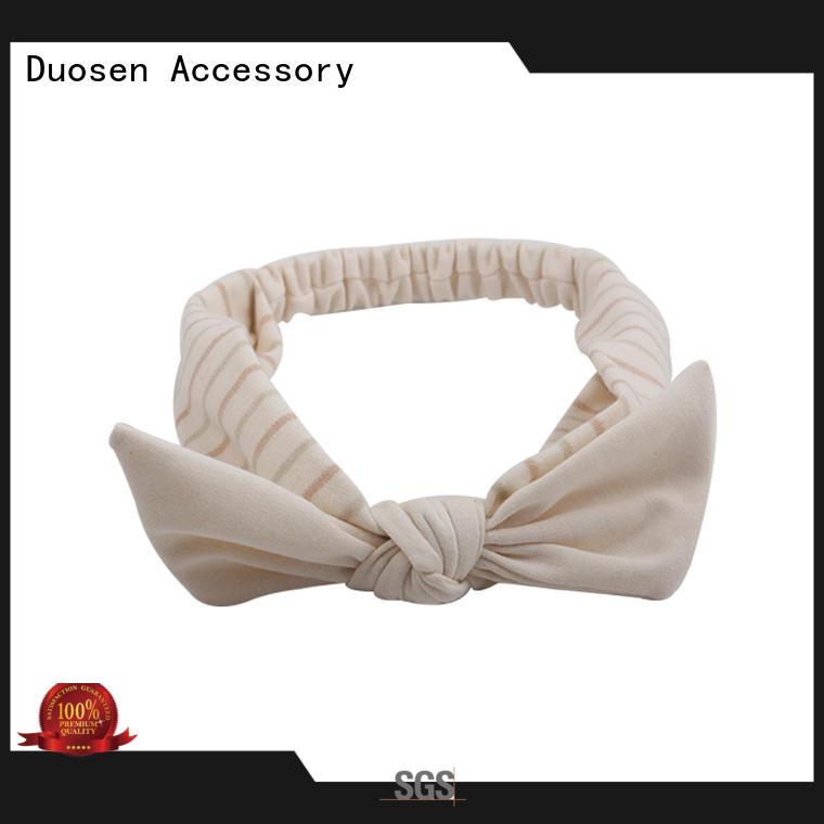 ODM organic fabric bow headband soft with regular use for running