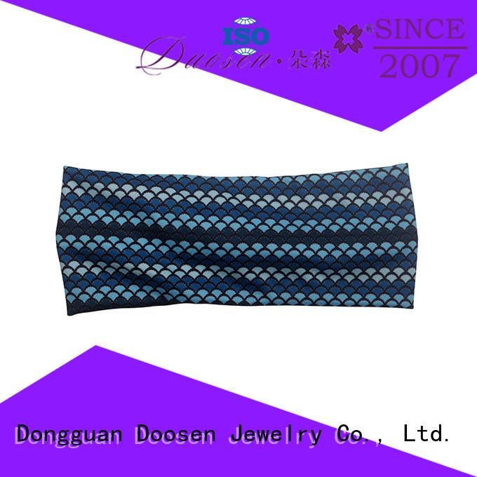 light hairbands knotted organic material cross headband Duosen Accessory Brand