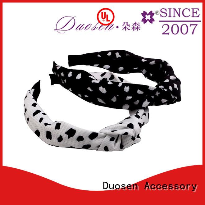 organic material cross headband design organic fabric headband Duosen Accessory Brand