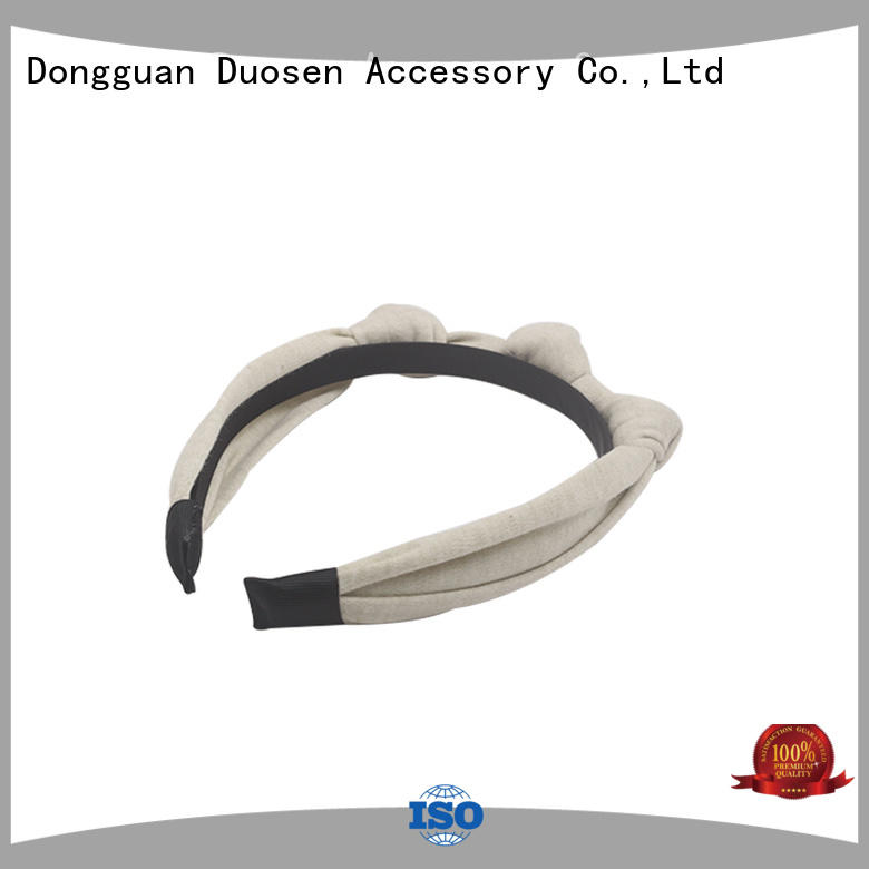 Duosen Accessory black fabric headbands wholesale for business for running