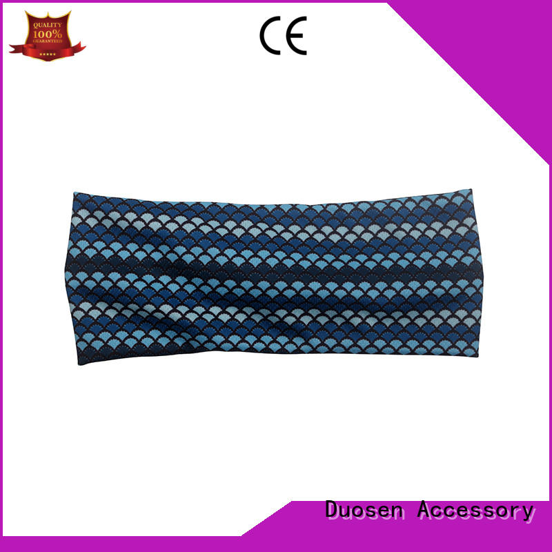 Top fabric bow headband cow company for daily Life