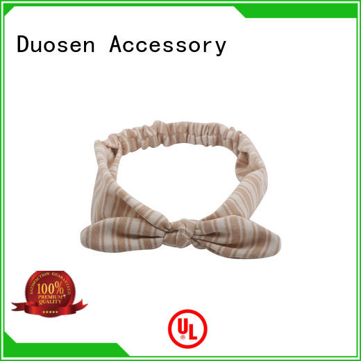 Duosen Accessory color cloth hairband manufacturers for daily Life