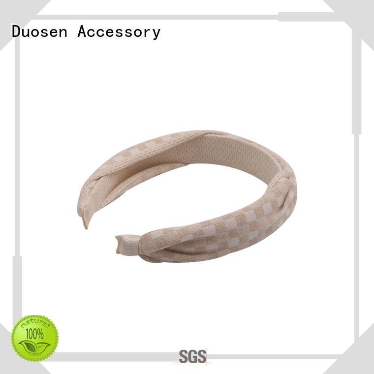 Duosen Accessory charming fabric hair bands manufacturer for party