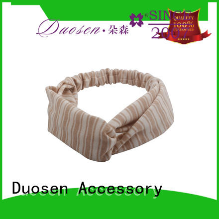 Duosen Accessory geometric wire fabric headband customized for daily Life