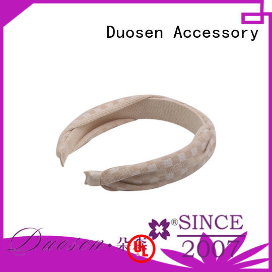 multifunctional organic meterial hairband design for party Duosen Accessory
