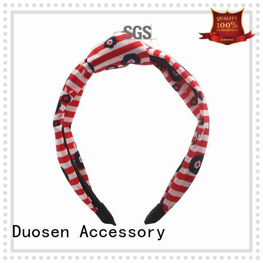 two cow organic fabric headband friendly Duosen Accessory company