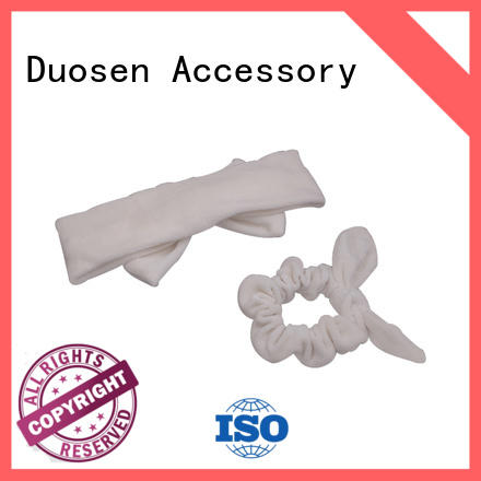 Duosen Accessory print fabric hair bands factory for party
