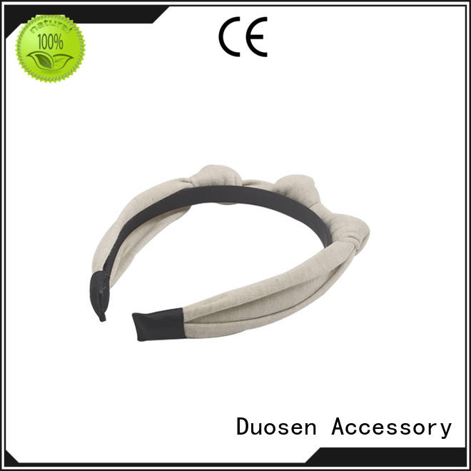 Duosen Accessory bow recycled material designer hairband customized for party