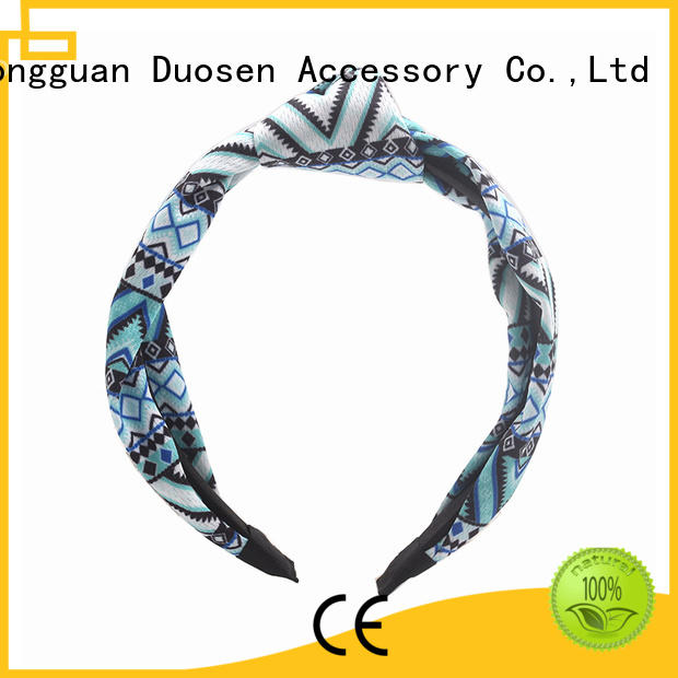 Duosen Accessory sides cloth hairband supplier for daily Life