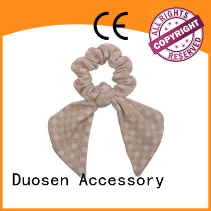 Custom fabric scrunchies girls company for daily life