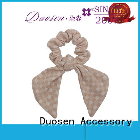 Duosen Accessory New bow hair scrunchie company for girls