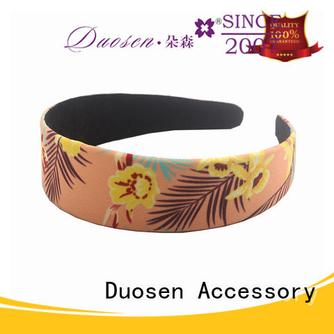 Custom organic fabric hairband red manufacturers for prom
