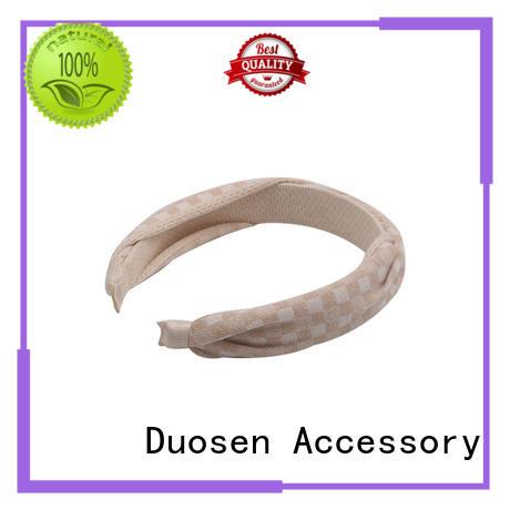 Quality Duosen Accessory Brand different organic fabric headband