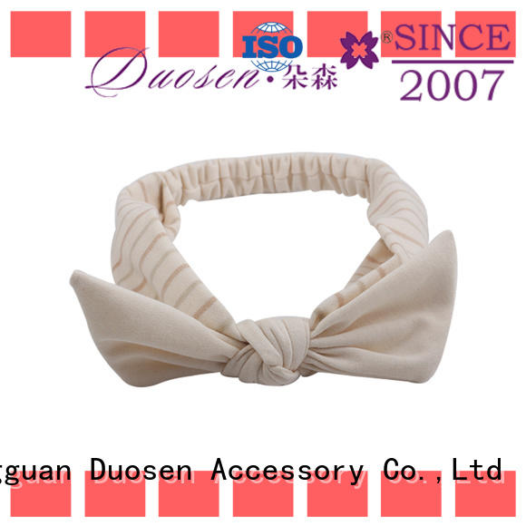 Duosen Accessory different Recycled fabric elastic headband supplier for party