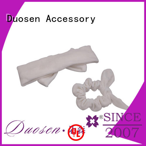 Duosen Accessory light organic fabric bow headband customized for sports