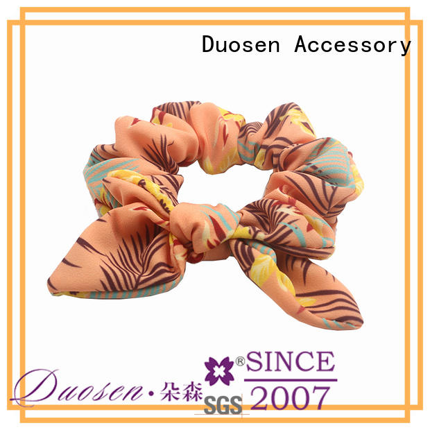 Duosen Accessory Custom fabric scrunchies company for girls