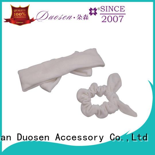 Duosen Accessory Custom organic fabric headband Supply for prom